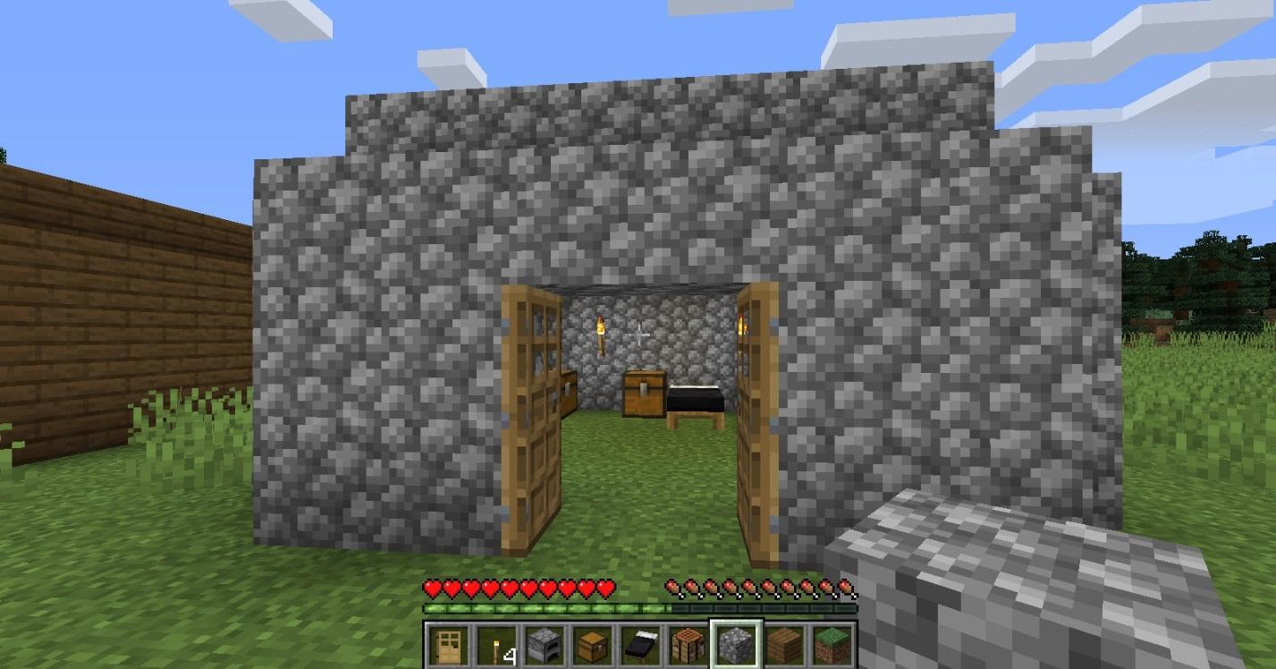 C:\Users\Vitamin\Desktop\Майнкрафт\простые домики\Дом из булыжника.jpg