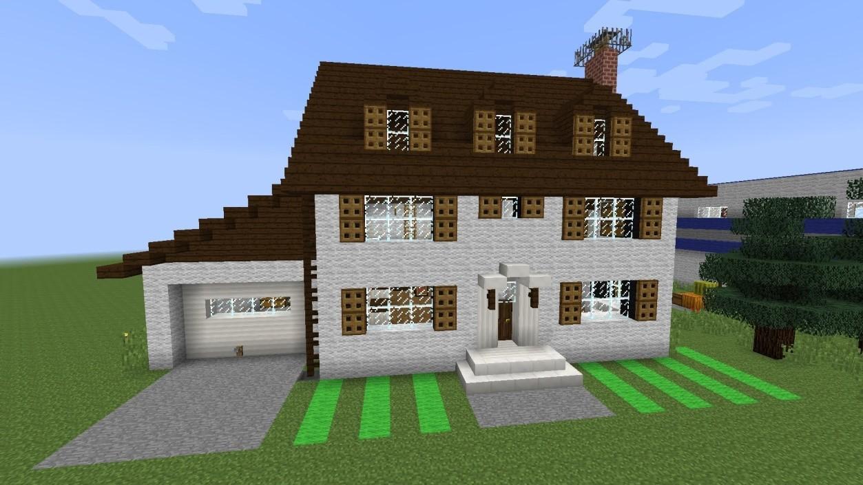 Красивый дом в майнкрафте