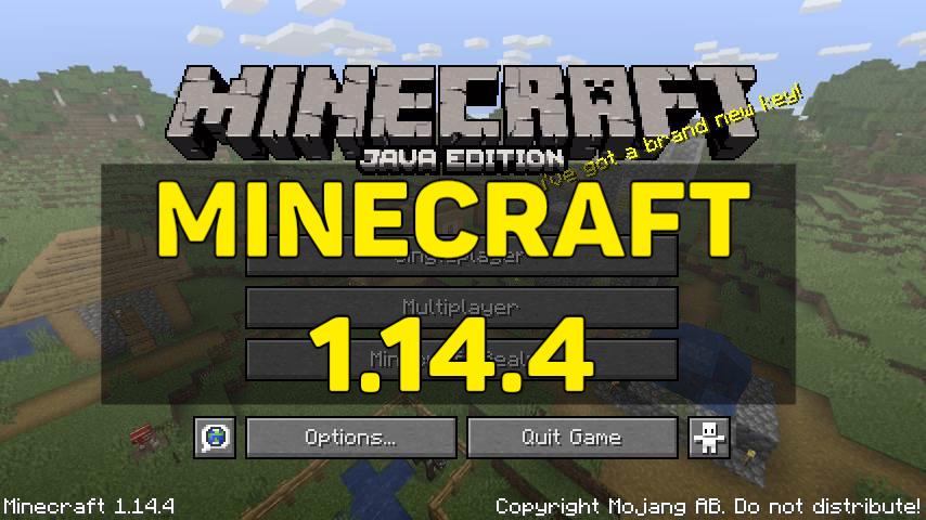 Скачать Minecraft 1.14.4