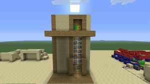 Строительство лифта в майнркафте