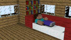 Персонаж спит