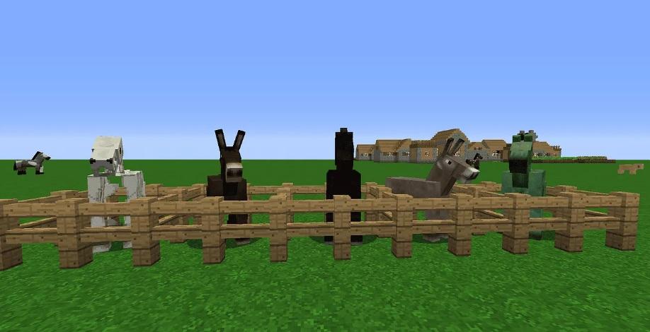 Седло подходит 5 мобам Minecraft