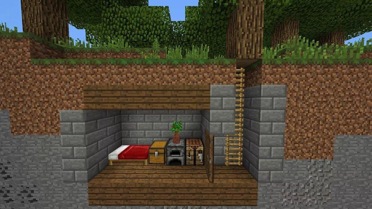Как сделать подземный дом в Minecraft