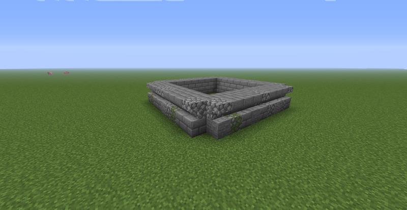 Делаем фундамент дома в Майнкрафт