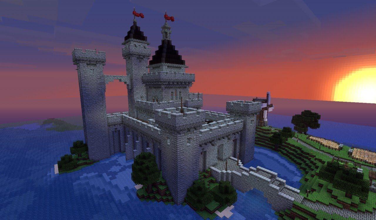 Замок в Майнкрафте - для опытных игроков