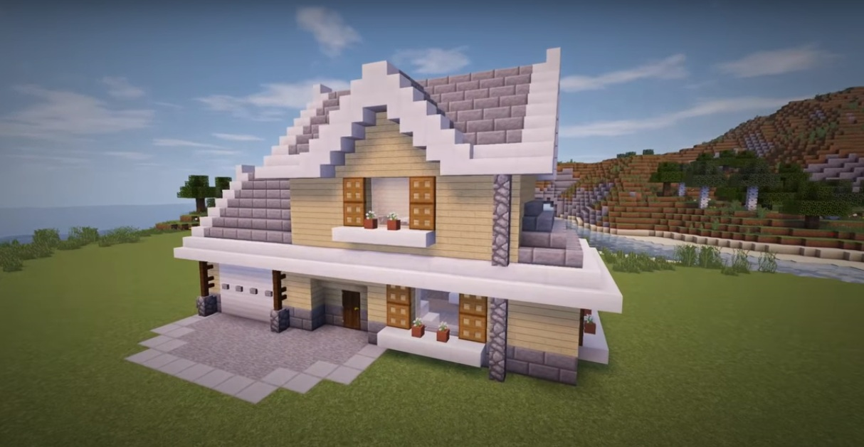 Строим двухэтажный дом в Minecraft