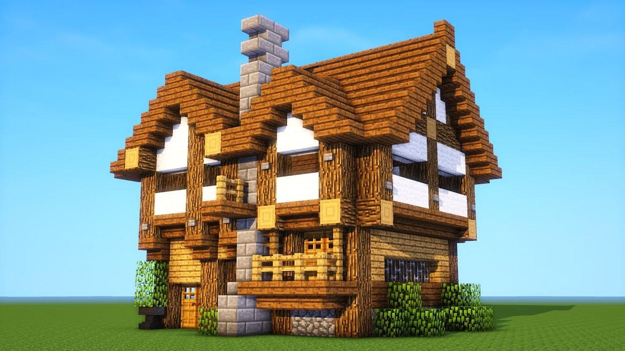 Новички Minecraft строят средневековые дома