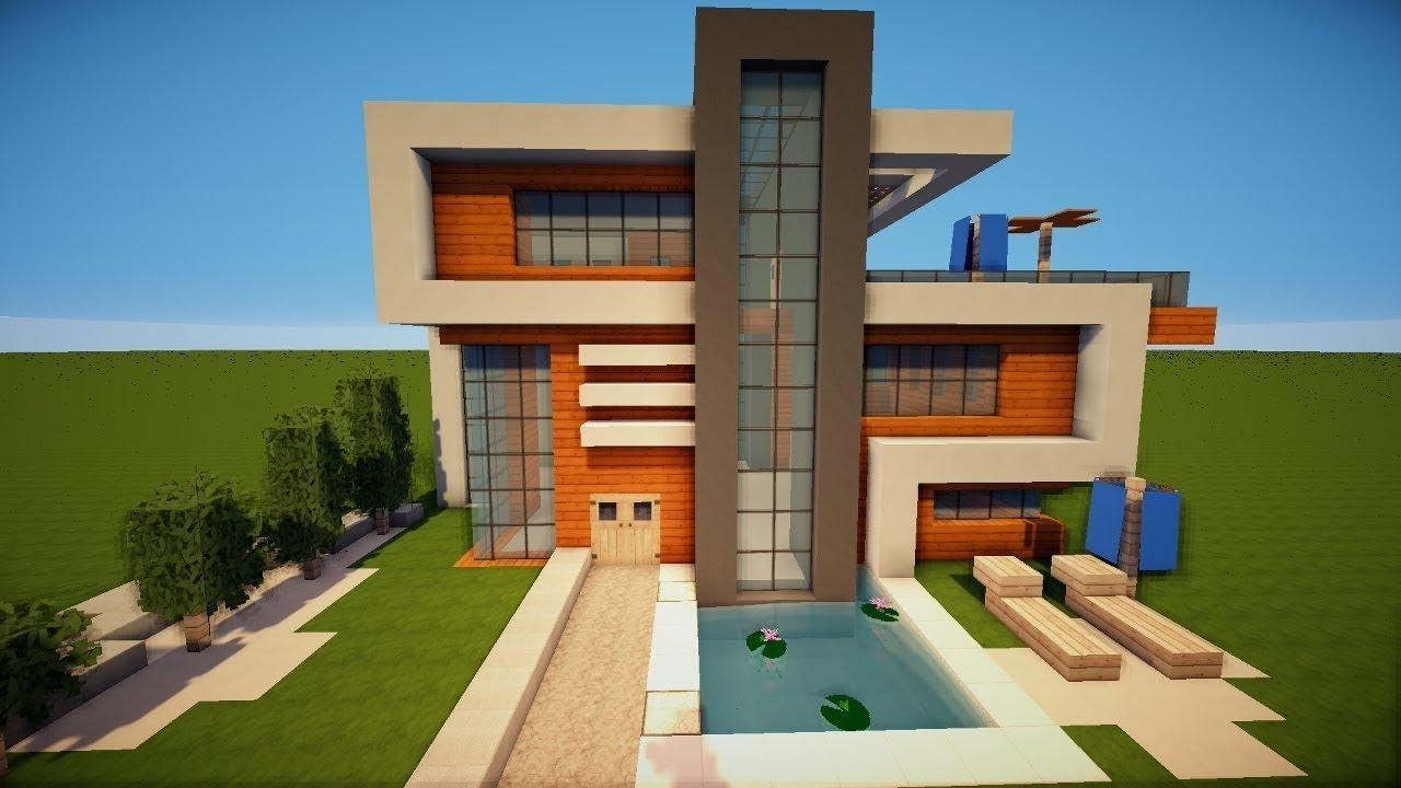 Как построить современный дом в Minecraft