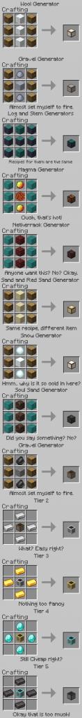 Мод генераторы от Milky на Minecraft PE