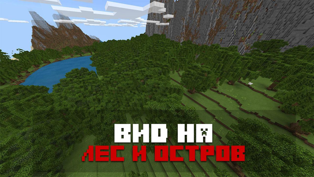 Карта выживание в лесу на Minecraft PE